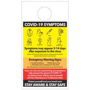 COVID-19 Symptoms Door Hanger