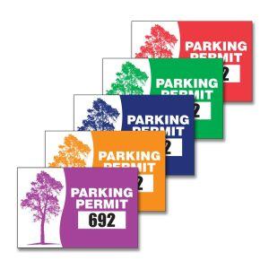 Parking Permit - Inside Adhesive - Rectangle - Oak Tree