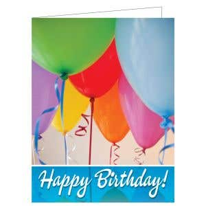 Happy Birthday Card - Birthday Balloons