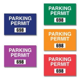 Parking Permit - Inside Adhesive - Rectangle