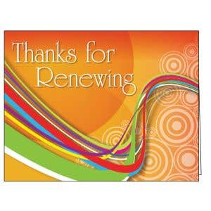 Thanks for Renewing Card - Orange Swirl