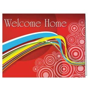 Welcome Card - Red Swirl