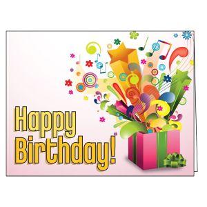 Happy Birthday Card - Open Present
