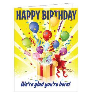 Happy Birthday Card - Balloon Surprise