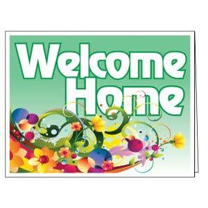 Welcome Card - Green Decorative