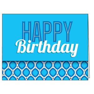 Happy Birthday Card - Ogee Design