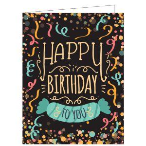 Happy Birthday Card - Confetti Party