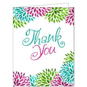 Thank You Card - Blooms