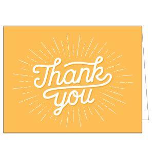 Thank You Card - Orange Burst