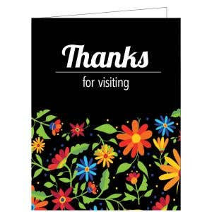 Thanks for Visiting Card - Classic Flowers