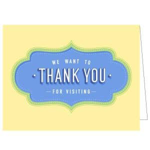 Thanks for Visiting Card - Sunny Thanks