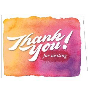 Thanks for Visiting Card - Watercolor Hues