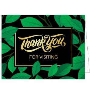Thanks for Visiting Card - Green Garden