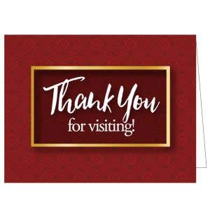 Thanks for Visiting Card - Burgundy Pattern