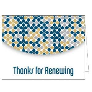 Thanks for Renewing Card - Modern Decor