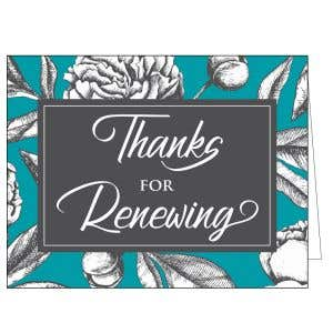 Thanks for Renewing Card - Formal Thanks