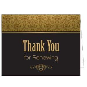 Thanks for Renewing Card - Gratitude