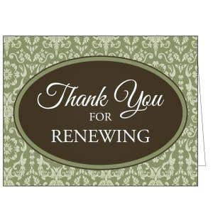 Thanks for Renewing Card - Baroque