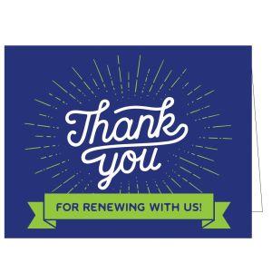 Thanks for Renewing Card - Royal Burst