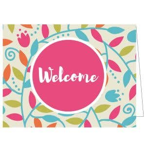 Welcome Card - Colorful Branches