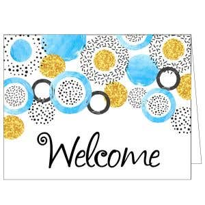 Welcome Card - Stylish Circles