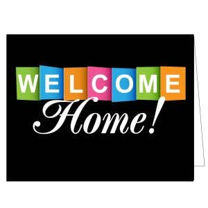 Welcome Card - Colorful Blocks