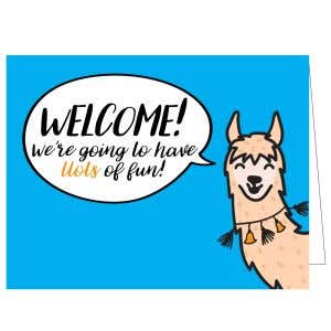 Welcome Card - Llama Fun