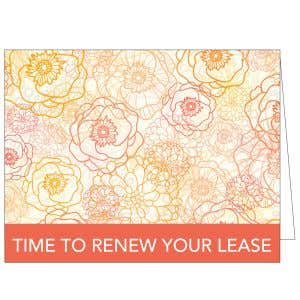 Time to Renew Card - Orange Blossoms