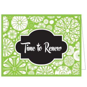 Time to Renew Card - Pinwheels