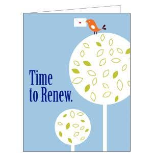 Time to Renew Card - Little Bird