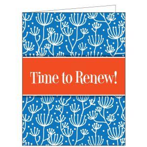 Time to Renew Card - Organic
