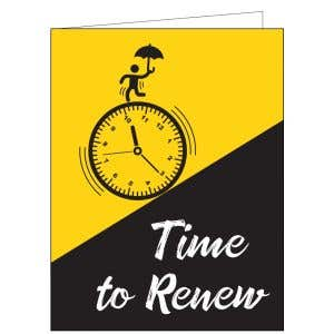 Time to Renew Card - It's Time