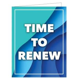 Time to Renew Card - Sapphire Waves