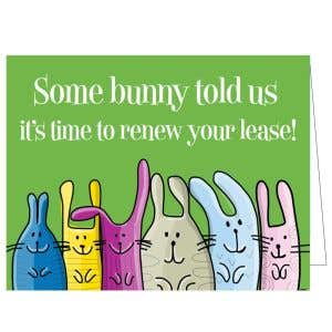 Time to Renew Card - Some Bunny