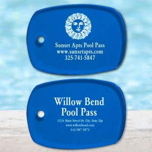 Custom Pool Pass - Rectangle