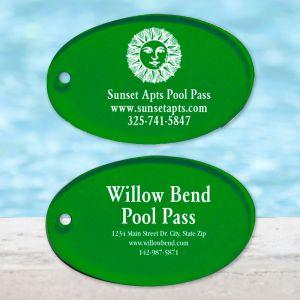 Custom Pool Pass - Oval