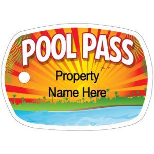 Custom Pool Pass Design - No Number
