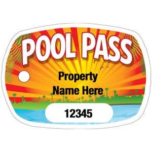 Custom Pool Pass Design with Number