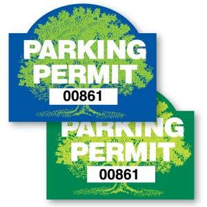 Parking Permit Inside Adhesive Rounded Arch Shape