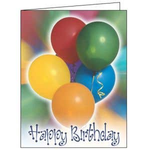 Happy Birthday Card - Balloons
