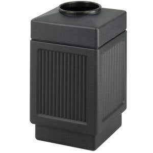 Recessed Panel 38 Gallon Trash Can with Top Opening