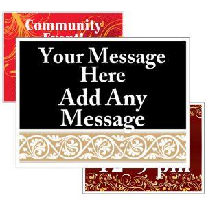 Bandit Signs - Custom - 2 Large Message