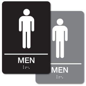 ADA Braille Sign - Men's Restroom