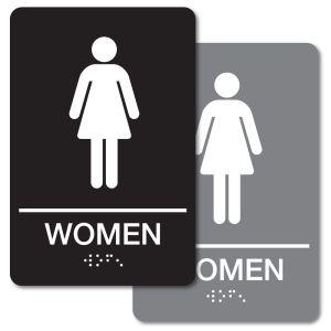 ADA Braille Sign - Women's Restroom