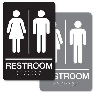 ADA Braille Sign - Unisex Restroom