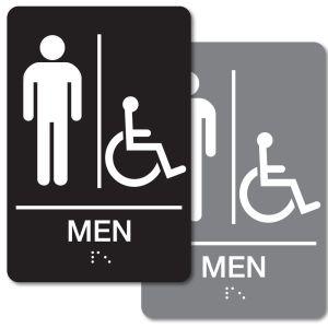 ADA Braille Sign - Men's Handicapped Restroom