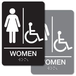 ADA Braille Sign - Women's Handicapped Restroom
