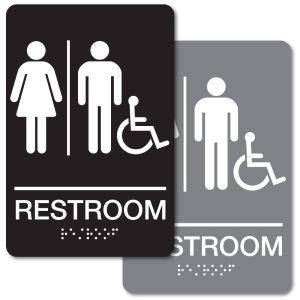 ADA Braille Sign - Unisex Handicapped Restroom