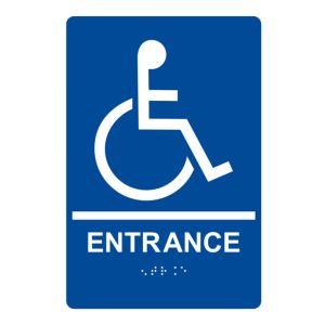 ADA Braille Sign - Handicapped Entrance