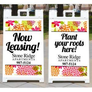 Double-Sided Custom A-Frame Sign Kit - 2 Messages